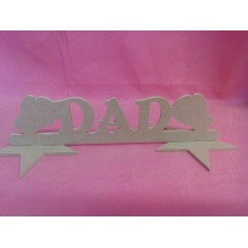 MDF Dad Boxing gloves plaque
